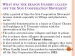 what was the reason gandhi called off the non cooperation movement