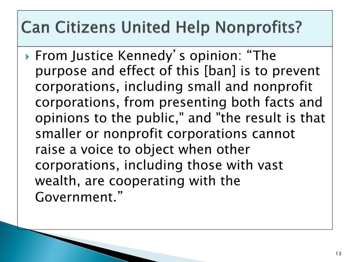 Can Citizens United Help Nonprofits?