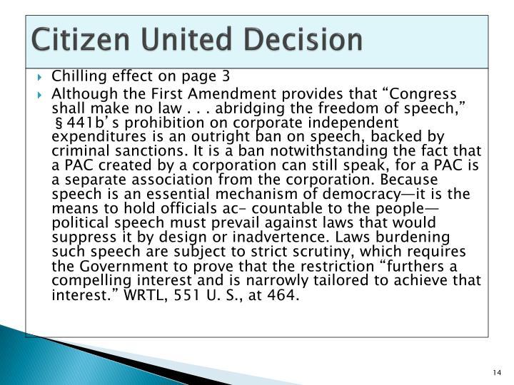Citizen United Decision