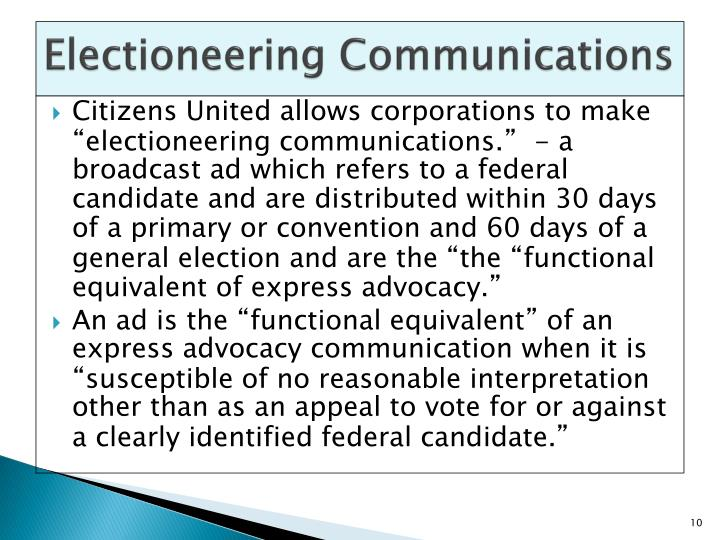 Electioneering Communications