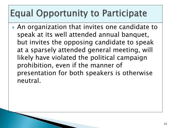 Equal Opportunity to Participate