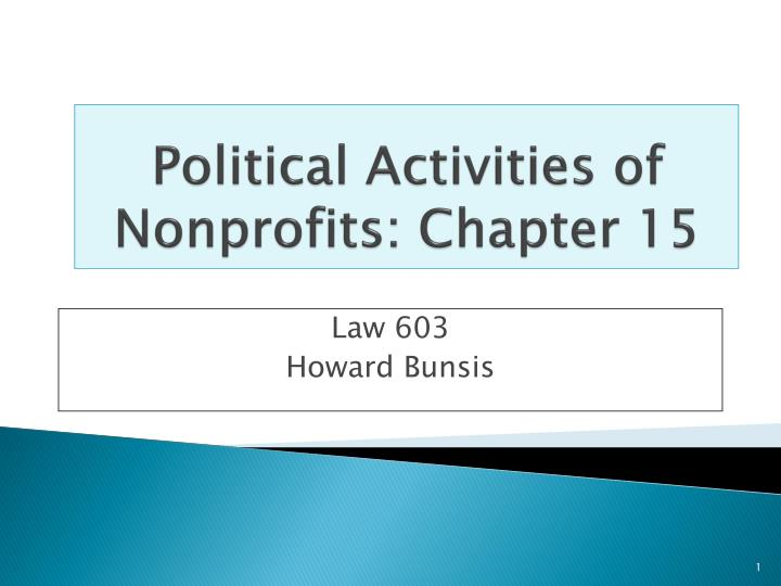 Political activities of nonprofits chapter 15