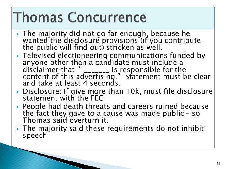 Thomas Concurrence