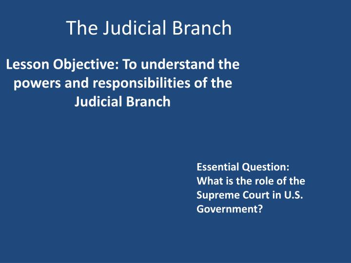 an analysis of the role of the prosecutor in the judicial system Judicial business of the united states courts the federal probation and pretrial services system this report contains analysis.