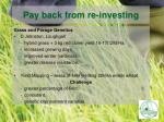 pay back from re investing