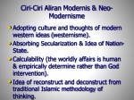 ciri ciri aliran modernis neo modernisme