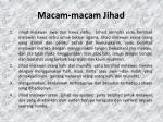 macam macam jihad