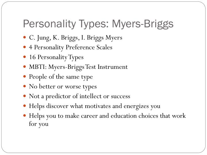 Personality Types: Myers-Briggs