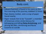 body cont