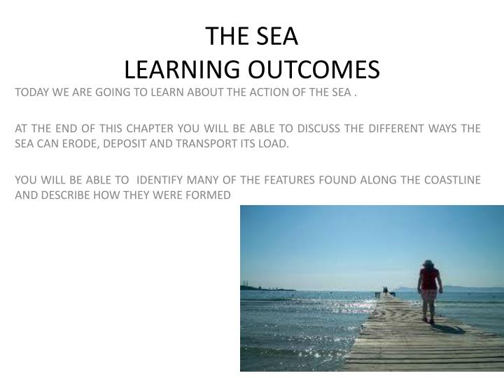 the sea learning outcomes n.