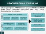 program quick wins mp3ki