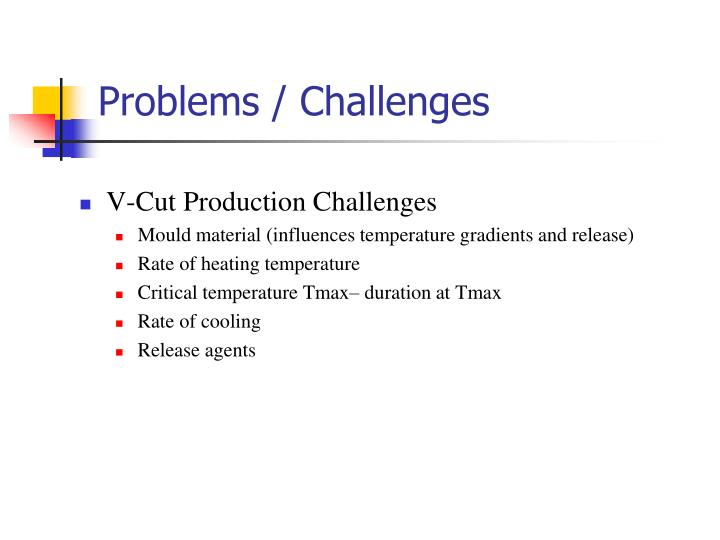 Problems / Challenges