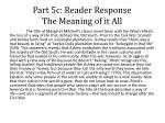 part 5c reader response the meaning of it all