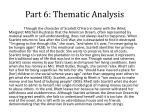 part 6 thematic analysis