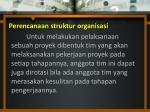 perencanaan struktur organisasi