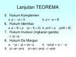 lanjutan teorema