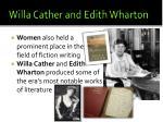 willa cather and edith wharton