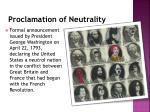 proclamation of neutrality