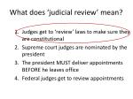 what does judicial review mean