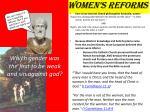 women s reforms