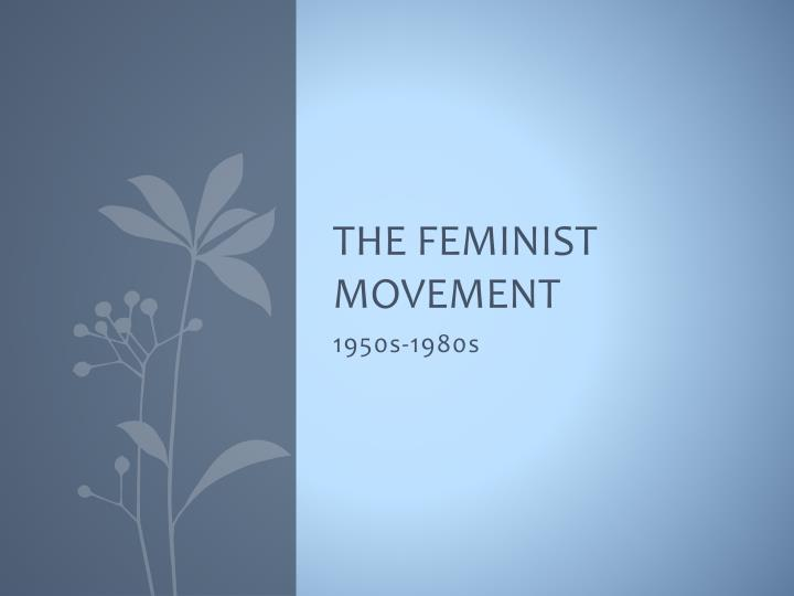 the feminist movement n.