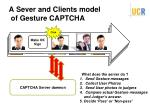 a sever and clients model of gesture captcha
