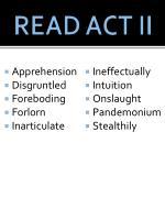 read act ii