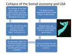 collapse of the somali economy and usa