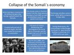 collapse of the somali s economy