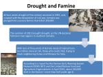 drought and famine