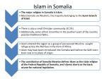 islam in somalia