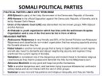 somali political parties