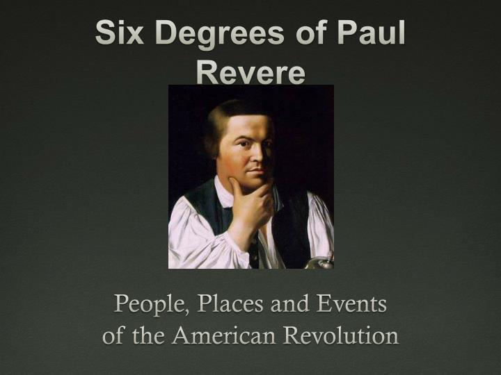 six degrees of paul revere n.