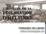 l histoire de la d claration d helsinki1