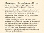 hemingway the ambulance driver