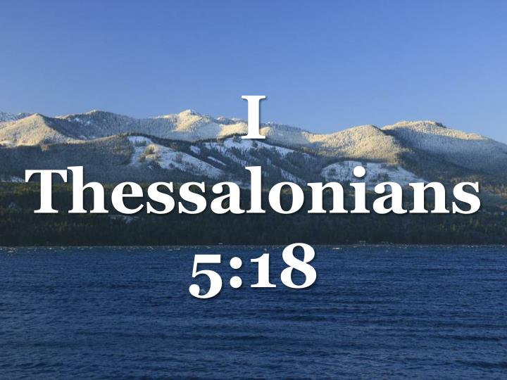 i thessalonians 5 18 n.
