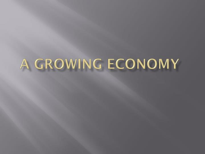 a growing economy n.