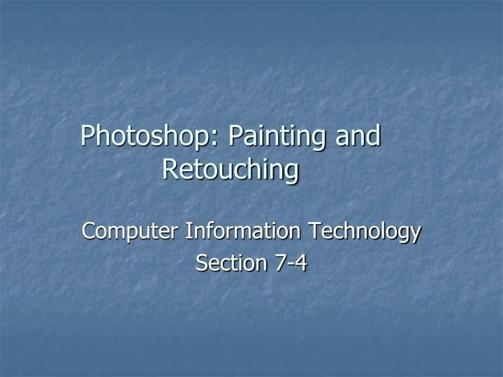photoshop painting and retouching n.