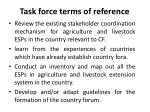 task force terms of reference