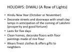 holidays diwali a row of lights