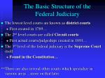 the basic structure of the federal judiciary