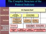 the complex structure of the federal judiciary