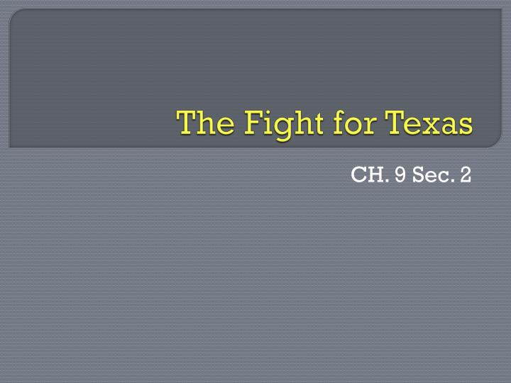 the fight for texas n.