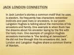jack london connection