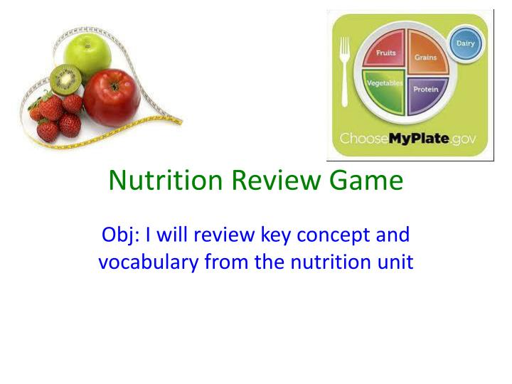 nutrition review game n.