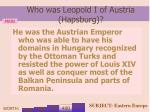 who was leopold i of austria hapsburg