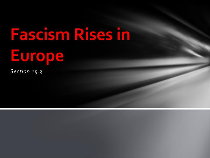 fascism rises in europe n.