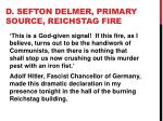 d sefton delmer primary source reichstag fire