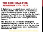 the reichstag fire february 27 th 1933