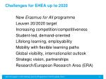 challenges for ehea up to 2020